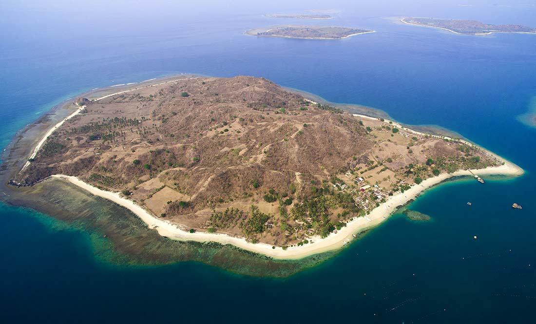 Gili Asahan Lombok Flight Drone