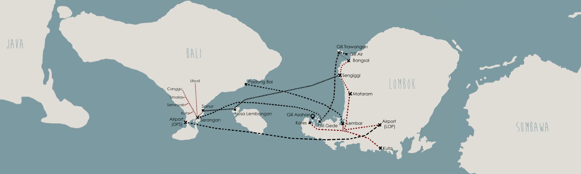Lombok Fast Boat Transport Gili Asahan