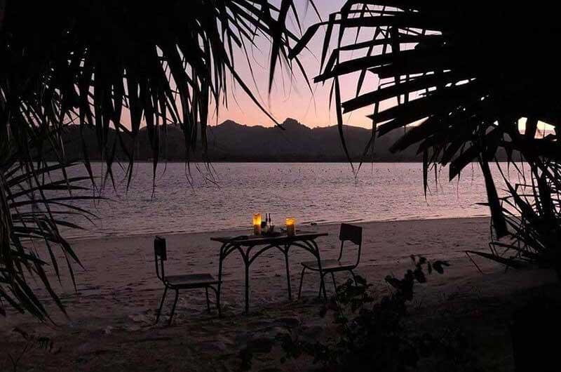 Gili Asahan Lombok romantic dinner nautilus restaurant